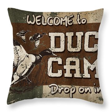 Duck Camp Throw Pillow