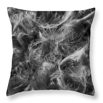 Duck Feathers Throw Pillow