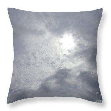Duck In Beautiful Sky Throw Pillow