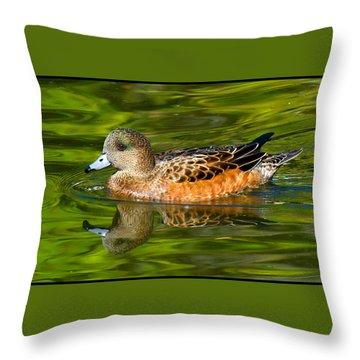 Young Female Mallard Duck Throw Pillow
