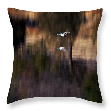 Duck Scape 2 Throw Pillow