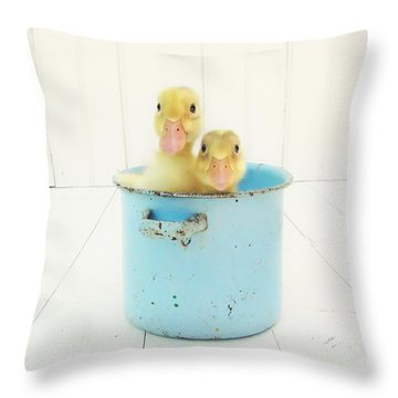 Duck Soup Throw Pillow by Amy Tyler