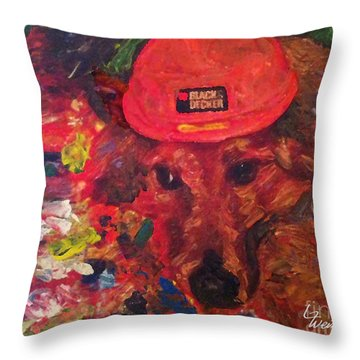 Throw Pillow featuring the painting Alameda Radar  by Linda Weinstock