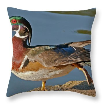 Throw Pillow featuring the photograph Duck Yoga by Kate Brown