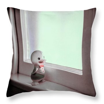 Duckie At The Window Throw Pillow