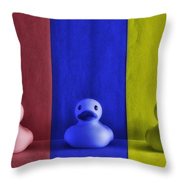 Duckies A La Warhol Throw Pillow