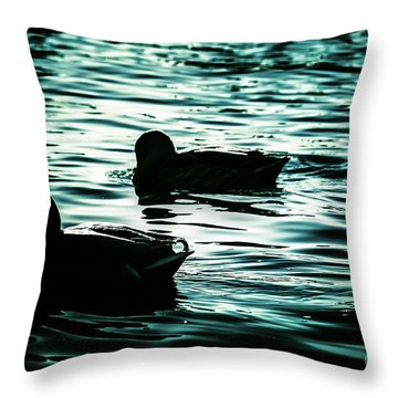 Duckies Throw Pillow by Arlene Sundby