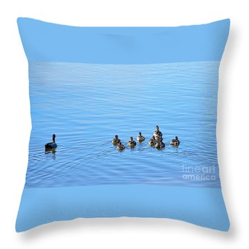 Ducklings Day Out Throw Pillow by Kaye Menner
