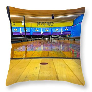 Duckpin Bowling Throw Pillow