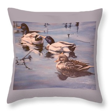 Ducks On The Cachuma Throw Pillow