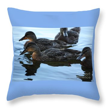 Ducks Reflecting Throw Pillow