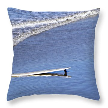 Dude Where Is My Surfer Throw Pillow