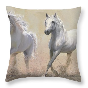 Due Cavalli Throw Pillow
