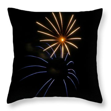 Throw Pillow featuring the photograph Due Fiori by Glenn DiPaola