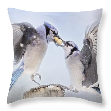 Dueling Jays Throw Pillow