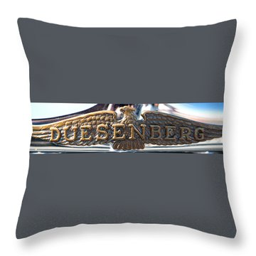 Duesenberg  Throw Pillow by Rebecca Davis