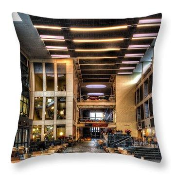 Duffield Hall Cornell University Throw Pillow