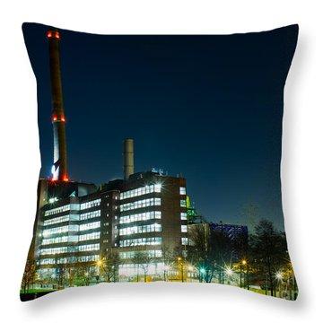 Duisburg Thyssen Krupp Factory Apostel Street Throw Pillow