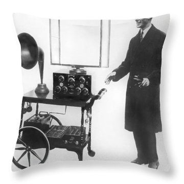 Duke & Duchess Portable Radio Throw Pillow