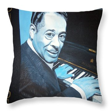 Duke Ellington Throw Pillow