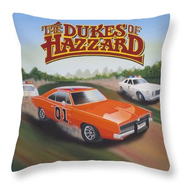 Dukes Of Hazzard Chase Throw Pillow