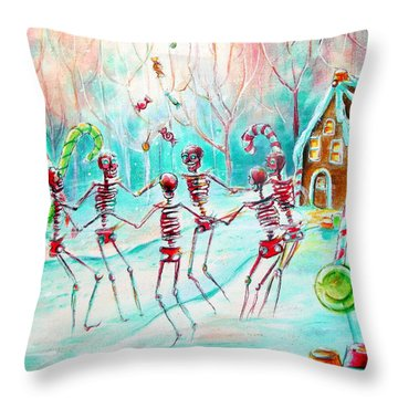 Dulcelandia Throw Pillow by Heather Calderon