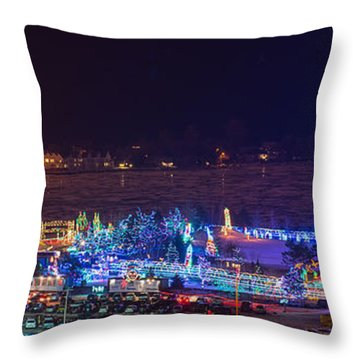 Duluth Christmas Lights Throw Pillow by Paul Freidlund