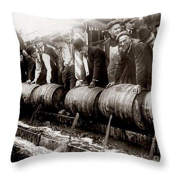 Dump The Beer Throw Pillow by Jon Neidert