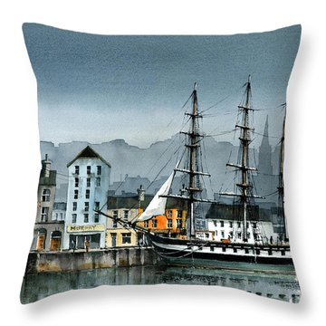 Wexford  Dunbrody Famine Ship  In New Ross Throw Pillow