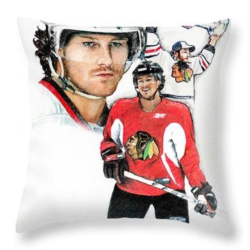 Duncan Keith Throw Pillow by Jerry Tibstra