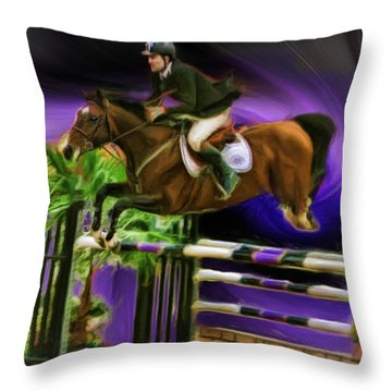 Duncan Mcfarlane On Horse Mr Whoopy Throw Pillow
