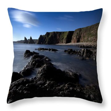 Duncansby Head Throw Pillow by Roddy Atkinson