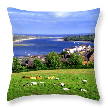 Dundrum Bay In County Down Ireland Throw Pillow by Nina Ficur Feenan