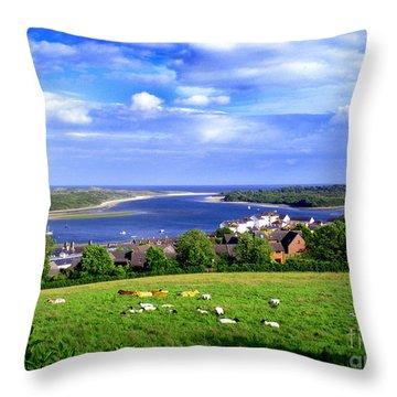 Dundrum Bay Irish Coastal Scene Throw Pillow by Nina Ficur Feenan