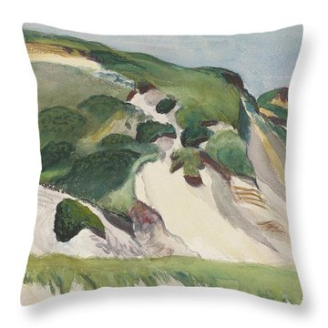 Dune At Truro Throw Pillow by Edward Hopper
