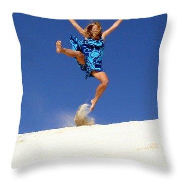 Dune Dance Throw Pillow by Ramona Johnston