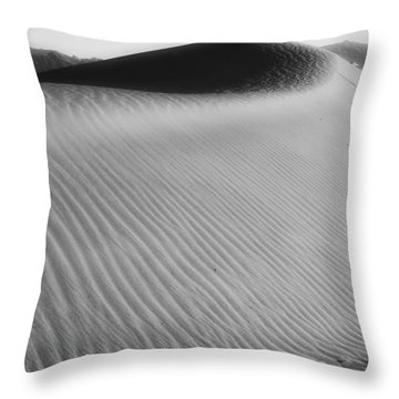 Dune Death Valley Throw Pillow by Hugh Smith