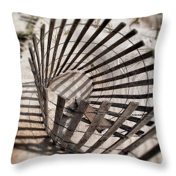 Storm Fence Series 1 Throw Pillow by John Pagliuca