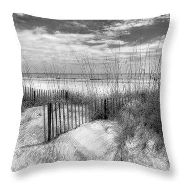 Dune Fences Throw Pillow