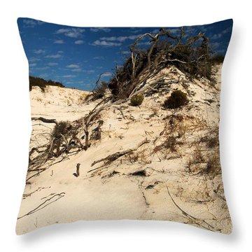 Dune Glue Throw Pillow by Adam Jewell