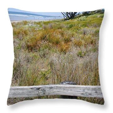 Dune Grass Throw Pillow by Les Cunliffe