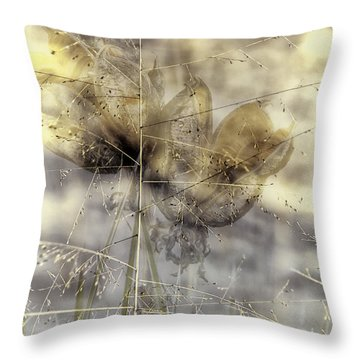 Dune Grass On Yucca Throw Pillow