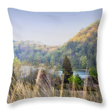 Dune Lake Panorama Saugatuck Mi Throw Pillow