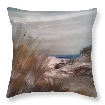 Dune Overlook Throw Pillow by Joseph Gallant