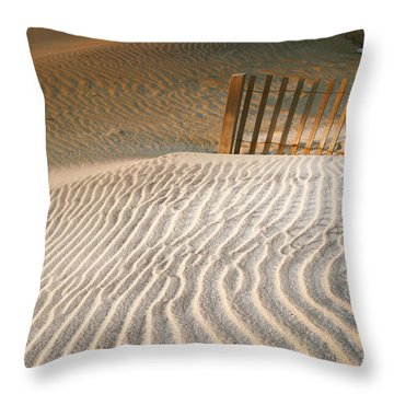 Throw Pillow featuring the photograph Dune Patterns IIi by Steven Ainsworth