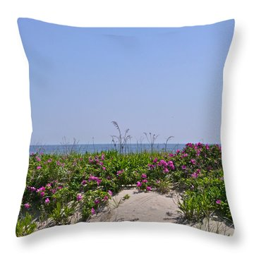 Dune Roses Throw Pillow