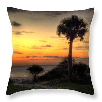 Dune Trail At Sunrise Throw Pillow by Greg and Chrystal Mimbs