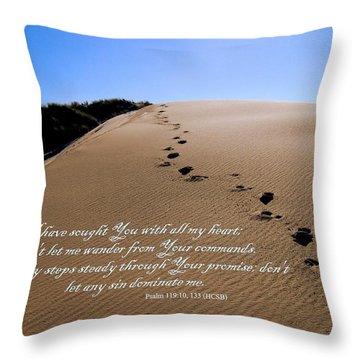 Dune Walk W/scripture 2 Throw Pillow