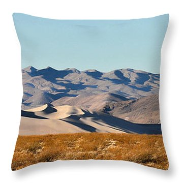 Throw Pillow featuring the photograph Dunes - Death Valley by Dana Sohr