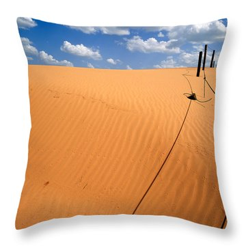 Dunes And Clouds Throw Pillow